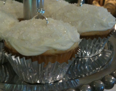 The bridal shower was beautiful, and the homemade cupcakes were a success!
