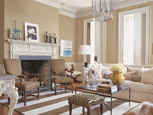 veranda magazine linen living room